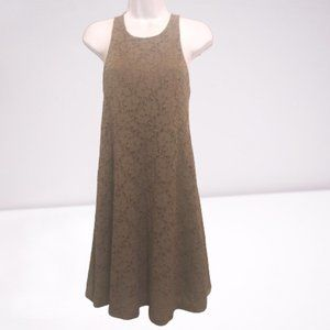 Everly Brown Lined Floral Lace Dress